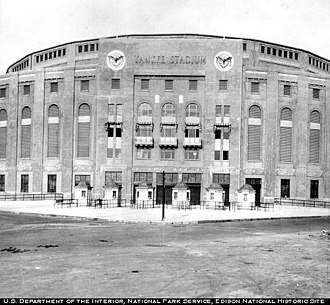 Edison Portland Cement Company - The entrance to the Yankee Stadium not long after being built in the 1920s