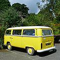 Yellow VW Dormobile at Trengilly.jpg