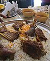 Yemeni Food - Muto wot(sauce) and bread.jpg