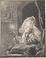 Young Woman Seated at a Table, Holding a Candle MET DP801547.jpg