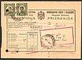 Yugoslavia telegraph receipt 1933 with 1921 stamp.JPG