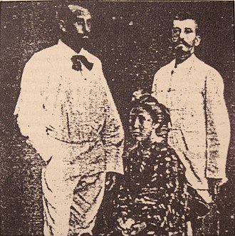 "Pierre Loti - Loti (right) with ""Chrysanthème"" and Pierre le Cor in Japan, 1885."
