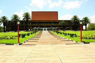 Zambia National Assembly building in Lusaka Zambia National Assembly Building.jpg