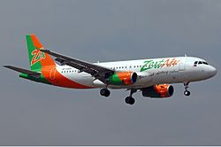 Airbus A320-200 der Zest Airways mit altem Design