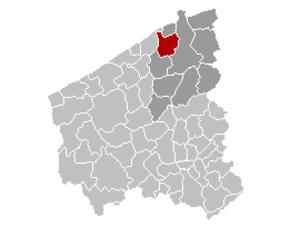 Zuienkerke - Image: Zuienkerke Locatie