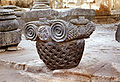 Zvartnots - column capital with Nerses monogram - October 1972.jpg
