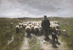 Shepherd and Sheep d'Anton Mauve (1880)