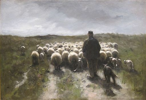 'Shepherd and Sheep' by Anton Mauve, Cincinnati Art Museum