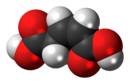 Space-filling model of the cis isomer