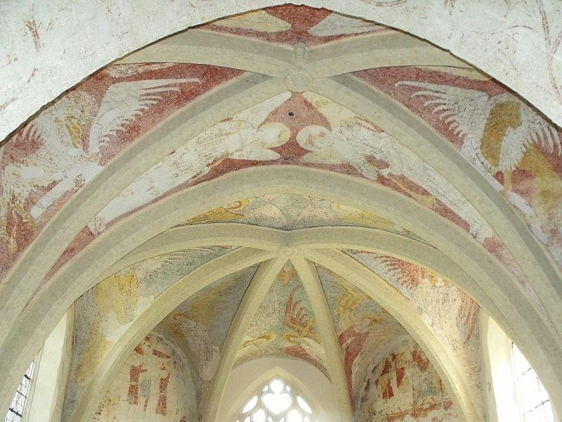Église Saint-Léger de Chaux-lès-Châtillon: fresque murale (abside)