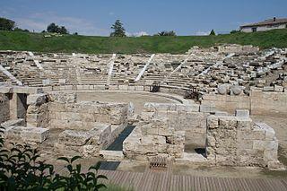 First Ancient Theatre, Larissa building in Larissa, Thessaly Region, Greece