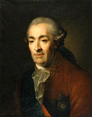 Dmitry Mikhailovich Golitsyn - Painting by Adam Braun, 1791