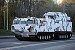 ЗРК 9К331МДТ Тор-М2ДТ на базе двухзвенного гусеничного транспортера ДТ-30ПМ - Тренировка к Параде Победы 2017 02.jpg