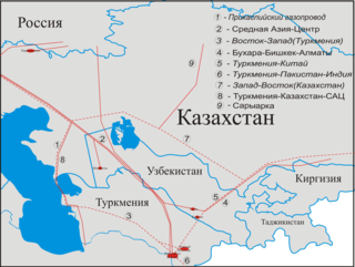 Gazprom pipeline in Turkmenistan, Uzbekistan, Kazakhstan and Russia
