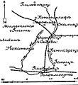 Карта к статье «Кениггрец» № 1. Военная энциклопедия Сытина (Санкт-Петербург, 1911-1915).jpg