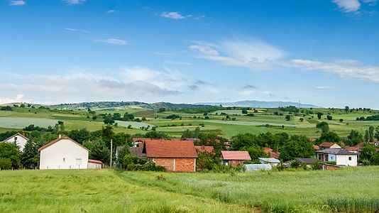 Landscape around the village Tekija, Macedonia
