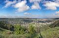 Погляд із найвищої точки на Могилів-Подільський. Темна пляма праворуч від центра фото -міський парк.jpg
