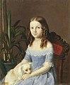 Портрет девочки в голубом платье. 1844. Тюрин П.С.jpg