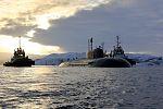 Прибытие атомного подводного ракетного крейсера Северного флота «Орёл» в пункт постоянного базирования 06.jpg