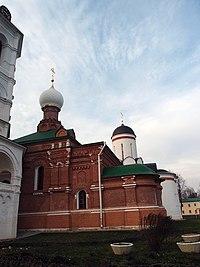 Церковь Сергия Радонежского на могиле Мефодия, игумена Пешношского, вид на алтарь.jpg