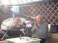 Шаман Ташоол Бууевич Кунга в юрте.jpg