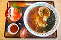 焼干しラーメンとミニ海鮮丼セット(浄土ヶ浜レストハウス).jpg