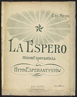 001 La espero - himno esperantista EO PL.jpg