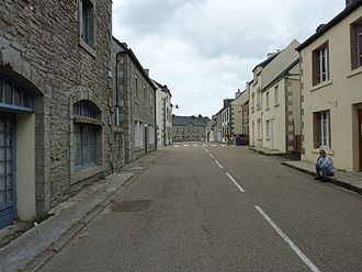 Berrien, Finistère - The main road in the village