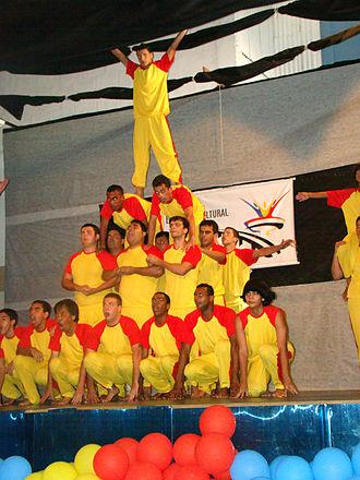 Gymnastic formation - Gymnastic formation performance by the Brazil SGI members, Niterói, State of Rio de Janeiro, in October, 2009.