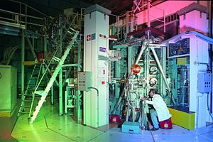 Science and technology in Switzerland - The Tokamak à configuration variable, research fusion reactor, at the École Polytechnique Fédérale de Lausanne.