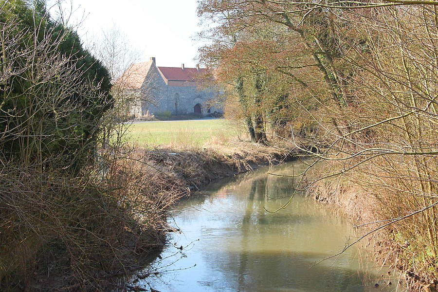 "Irchonwelz (Belgium), all the area of the fortified house known locally as ""Le Castel"" and its surroundings."