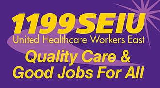 1199SEIU United Healthcare Workers East - Image: 1199 Logo Purple QCGJ