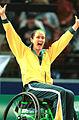 141100 - Wheelchair basketball Liesl Tesch stoked 3 - 3b - 2000 Sydney match photo.jpg