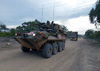 2nd/14th Light Horse Regiment - An ASLAV from the 2nd/14th at Shoalwater Bay training area.