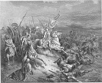 Gustave Doré's illustrations for La Grande Bible de Tours - The Angel Is Sent to Deliver Israel