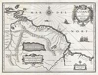 1635 Blaeu Map Guiana, Venezuela, and El Dorado - Geographicus - Guiana-blaeu-1635.jpg