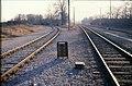 173L14050288 links Gleis der Abzweigung zum Verschiebebahnhof Breitenlee, rechts Gleis Ostbahn, Blick Richtung Stadlau 05.02.1988.jpg
