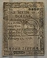 1776 one-sixth of dollar Continental Congress.jpg