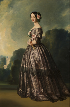 1846 portrait of the Princess of Joinville (Princess Francisca of Brazil) after Winterhalter.png