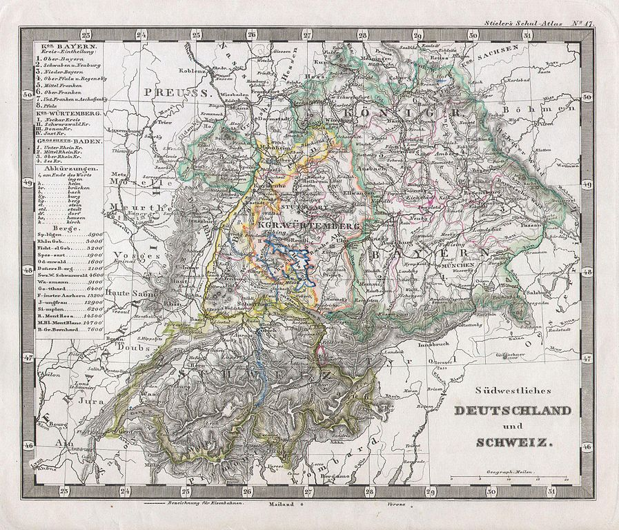 file 1862 stieler map of southern germany and switzerland