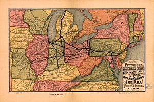 Pittsburgh, Fort Wayne and Chicago Railway - Image: 1874 PRR