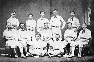 Baseball uniform - The Philadelphia Athletics in 1874 wearing their baseball uniforms