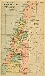 1889 The Kingdom of Jerusalem, shewing the Fiefs, about 1187 A.D..jpg