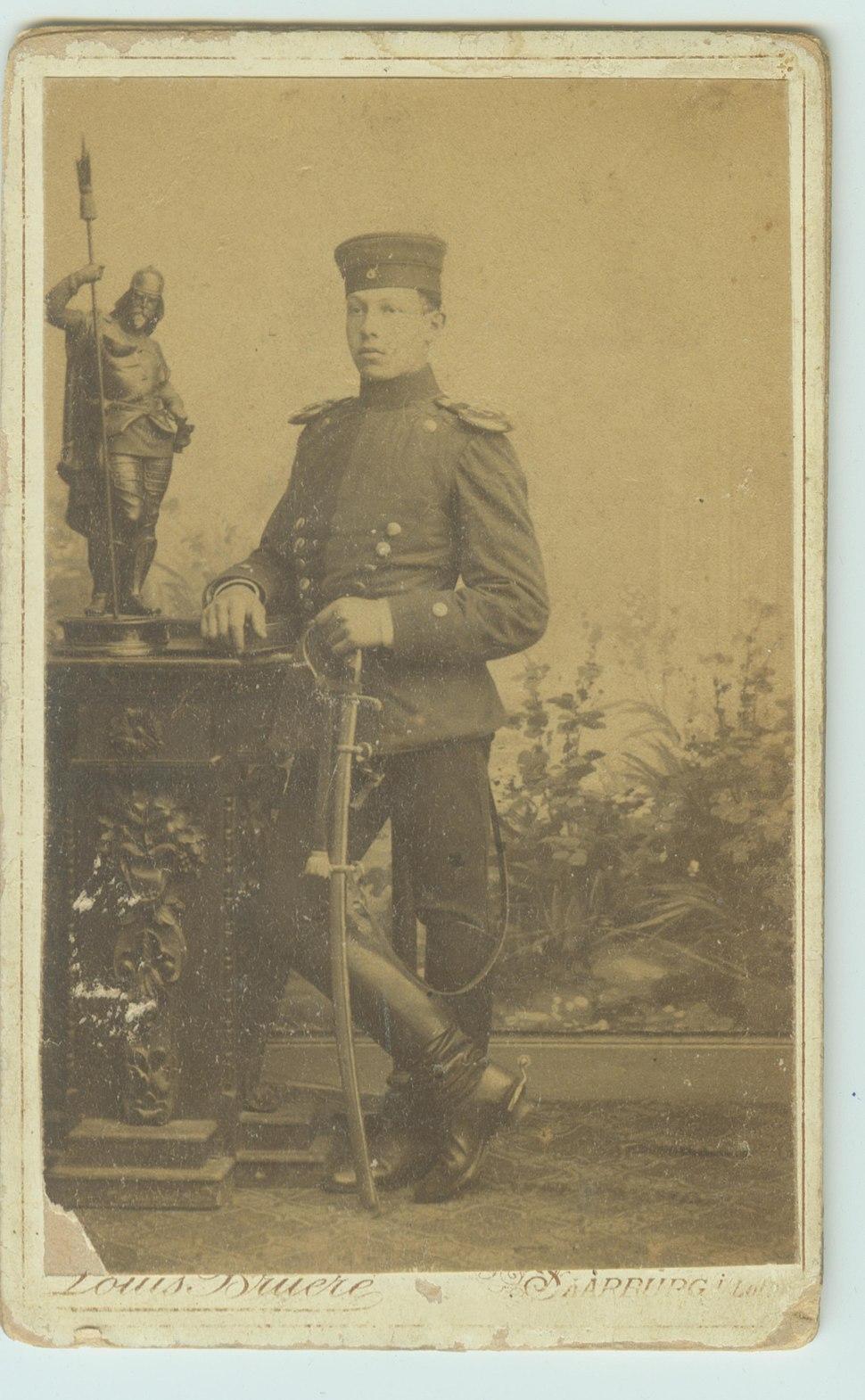 1890 gustav ermann kaiser soldier saarbrucken Germany