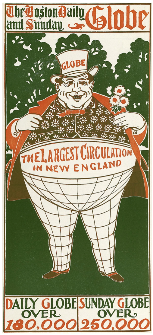 1896 BostonDailyGlobe ad Bradley His Book v1 no2