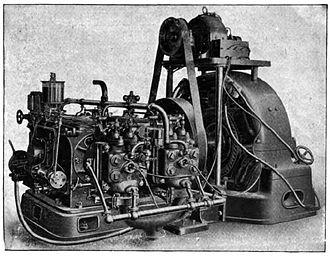 1903 Petrol Electric Autocar - The Wolseley engine and dynamo
