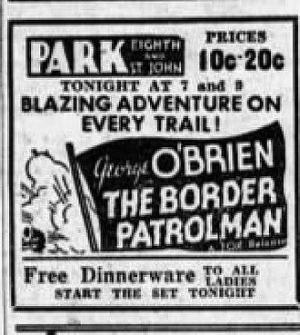 The Border Patrolman - Newspaper advertisement