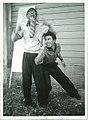 1956, Tokyo, deux étudiants de Keio posent avant la représentation d'une pièce de Pierre Gamarra.jpg