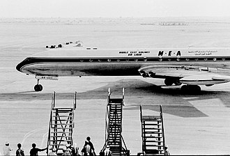 Dubai International Airport - The first jet aircraft to land on the new runway at Dubai Airport in 1965 was a Comet from Middle East Airlines.