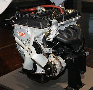 Toyota T engine - A Toyota 2T-G engine
